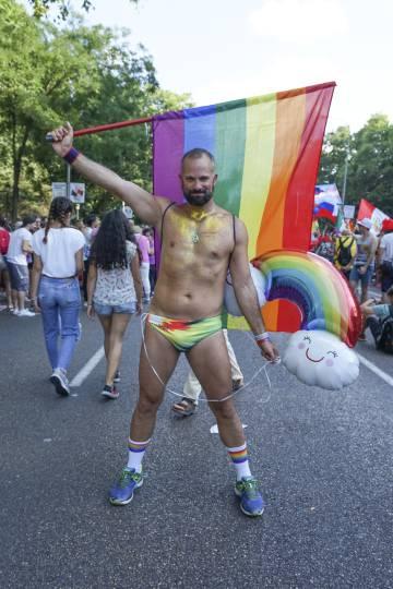Orgulho Gay em Madri em 7 de julho de 2018.