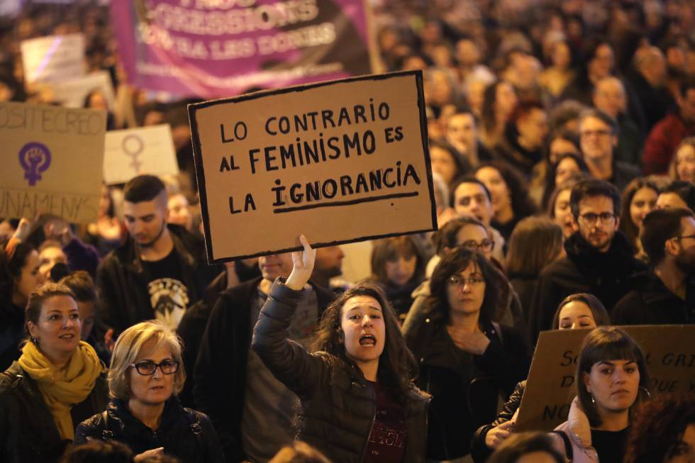 Manifestación en Barcelona contra la violencia machista en noviembre de 2017.
