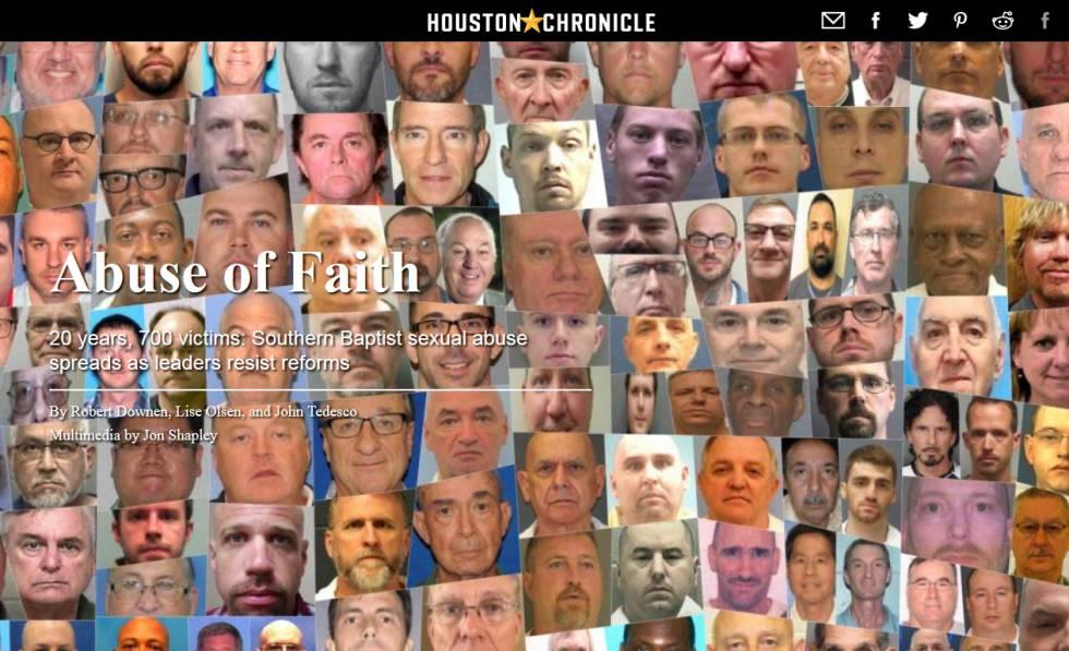 Portada del 'Houston Chronicle' con fotos de los acusados.