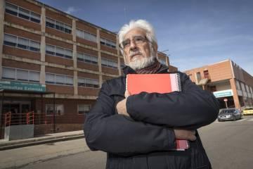 El médico Manuel Gimeno, portavoz de la plataforma Teruel Existe.