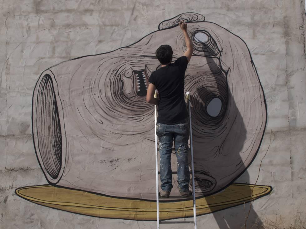 Mural del Museo Inacabado de Arte Urbano.