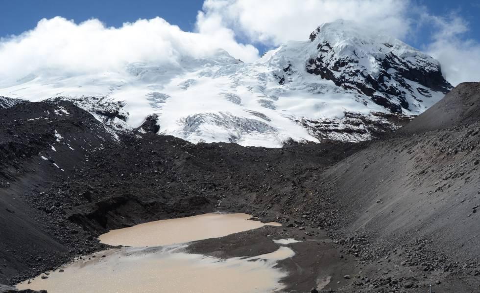 Pérdida de hielo del volcán Antisana, en Ecuador.