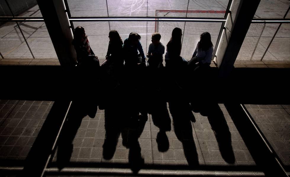 Alumnos de un instituto de Barcelona, en un programa contra el acoso.