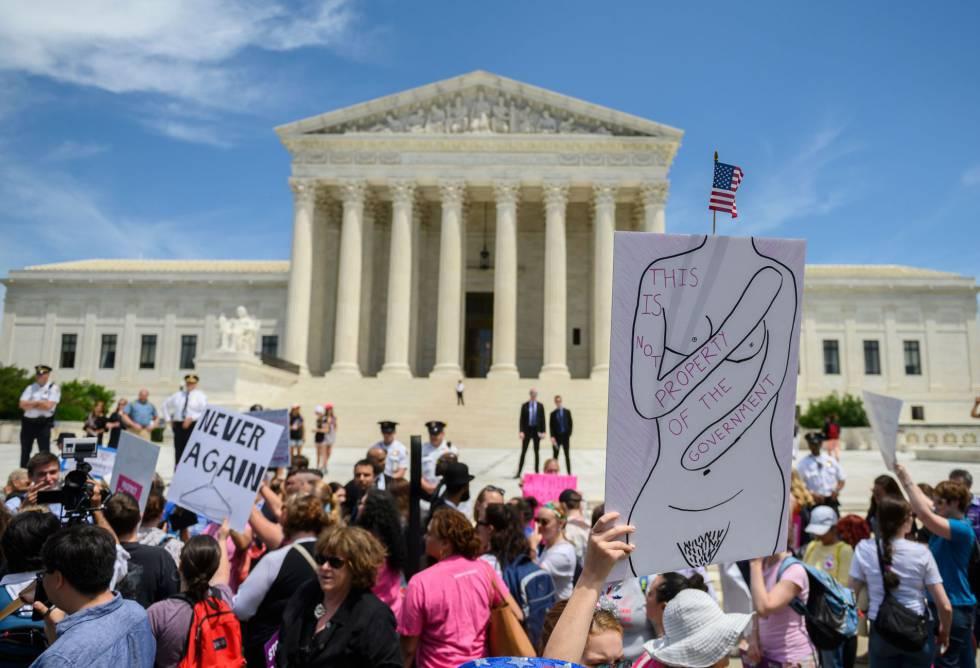 Centenares de manifestaciones en rechazo a la ofensiva contra el aborto en Estados Unidos