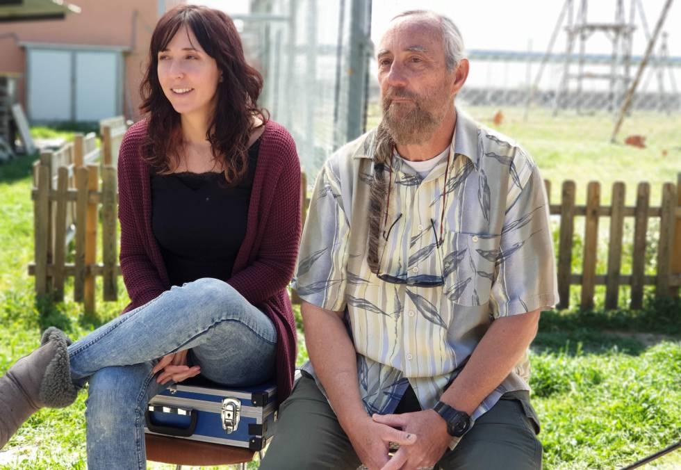 Marta y Guillermo, en las instalaciones de Rainfer.