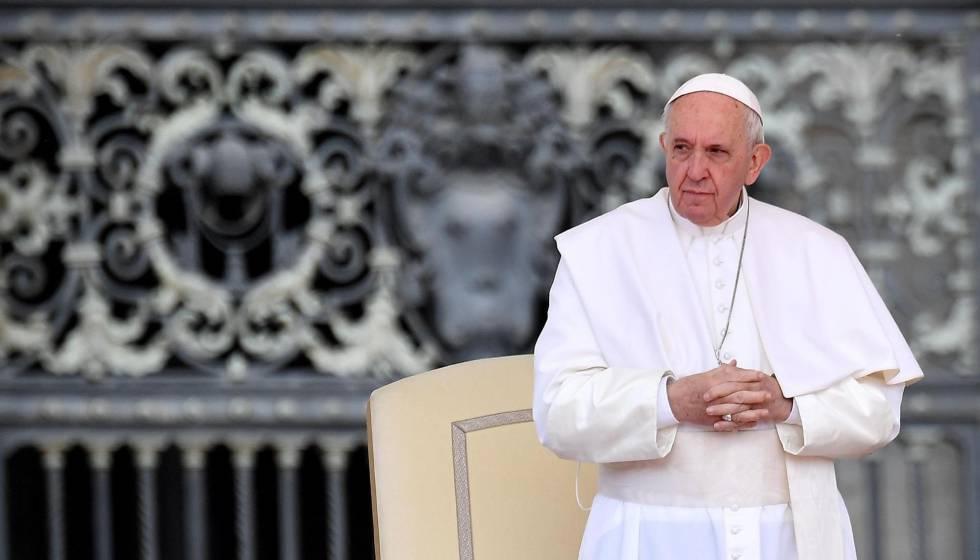 El papa Francisco en la plaza de San Pedro en el Vaticanoel pasado miércoles.