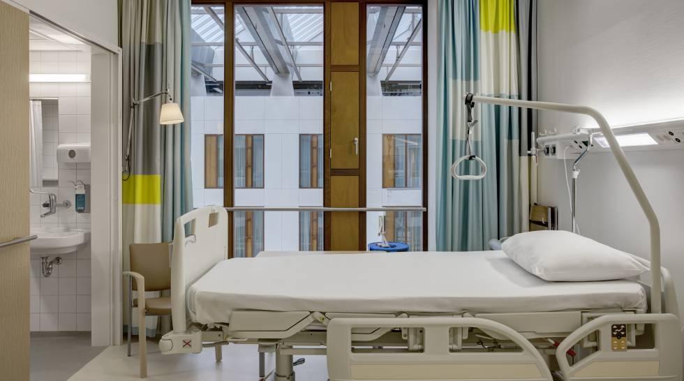 Una habitación de hospital en Holanda. rn