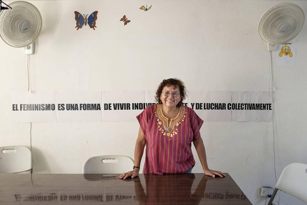 Morena Herrera, que encabeza que encabeza la Agrupación Ciudadana por la Despenalización del Aborto en abril en Suchitoto (El Salvador).