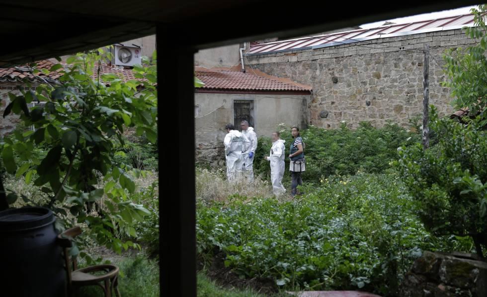La huerta donde cayó Monika Asenova, la mujer asesinada este 8 de julio por su pareja en Salas de los Infantes (Burgos).