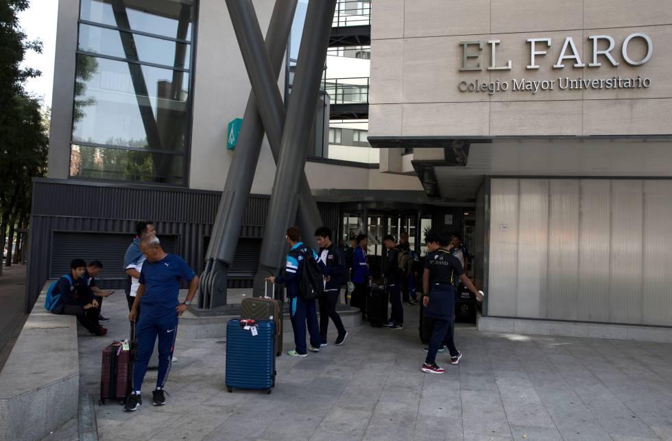 Fachada del colegio mayor El Faro en Madrid, gestionado por la empresa Nexo.