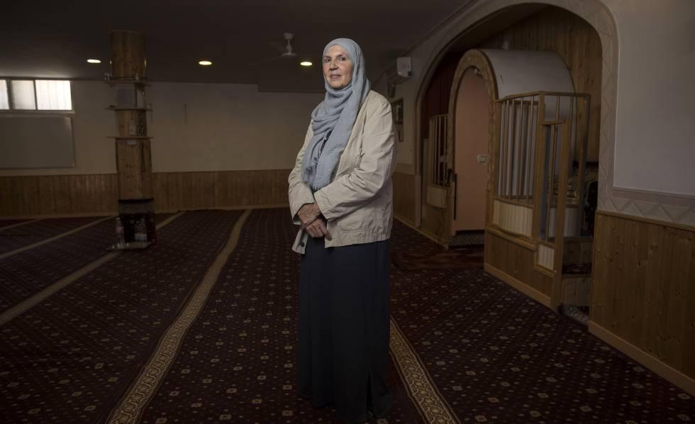 Marian Cuenca, en la mezquita de Ávila.