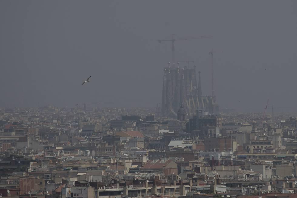 Contaminación en Barcelona, el pasado 1 de julio.