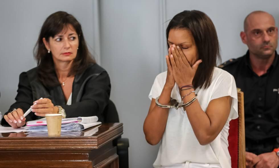 Ana Julia Quezada, durante la primera sesión del juicio.