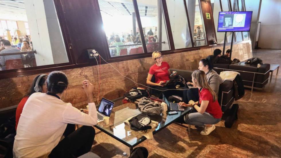 Participantes en el festival informático t3chfest, de la universidad Carlos III.
