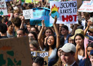 Manifestantes contra a mudança climática nesta sexta-feira em Sídney.