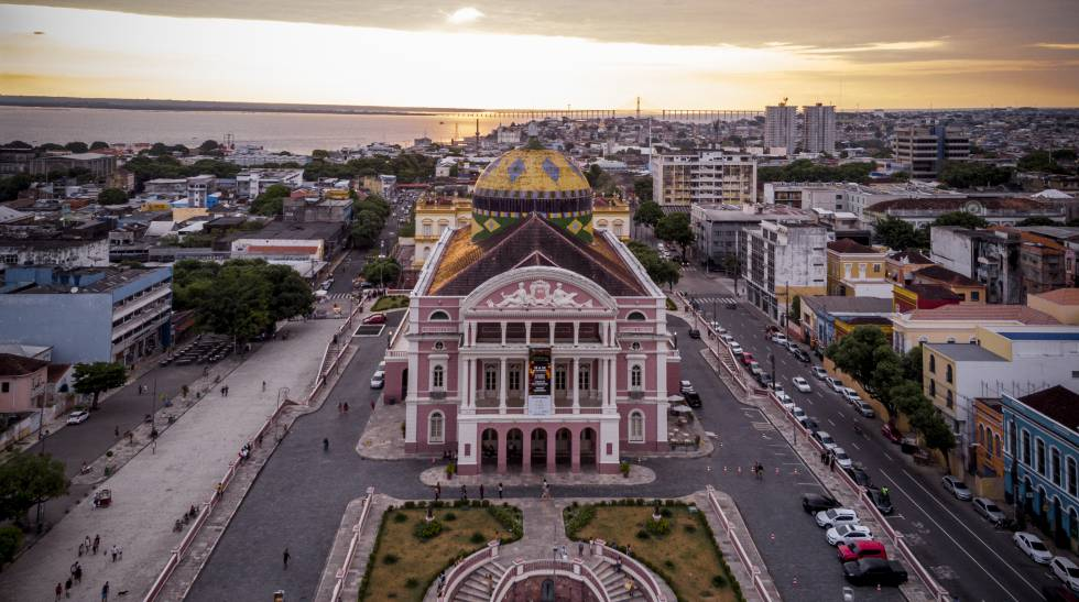 El teatro de la ópera de Manaos, inagurado en 1896, este septiembre.