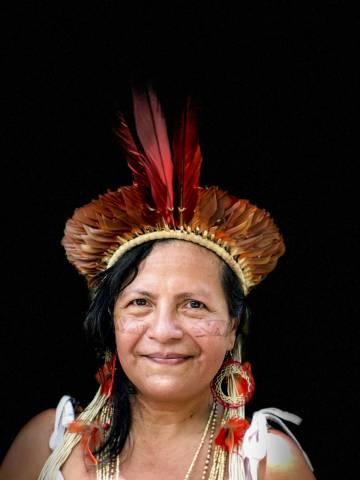 Marcivana Sateré-Mawé, una de las líderes indígenas que participó en la reunión presinodal en Manaos.