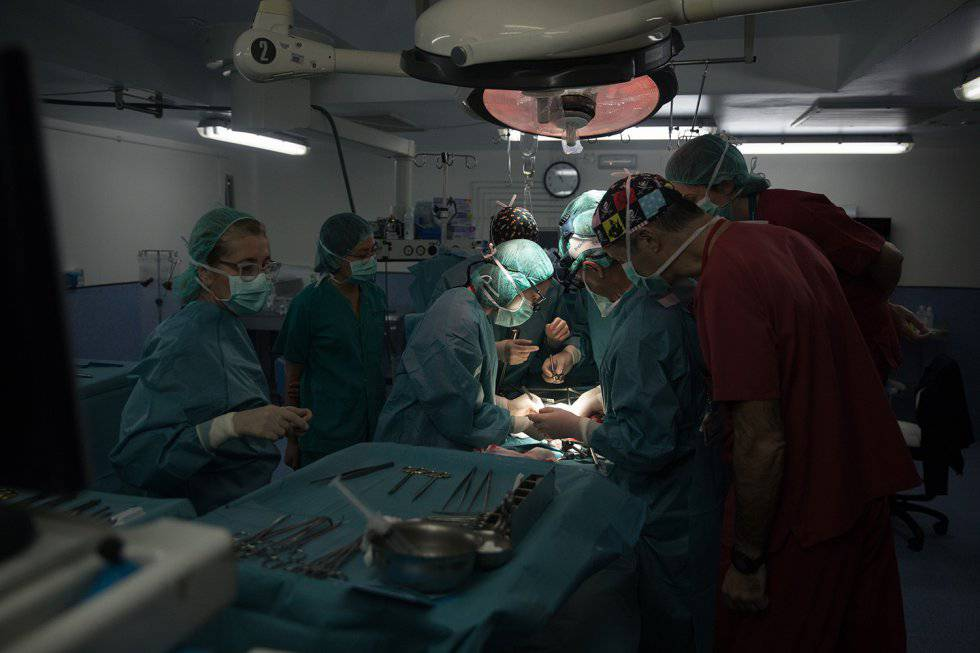 Imagen de archivo de un quirófano del hospital de La Paz.