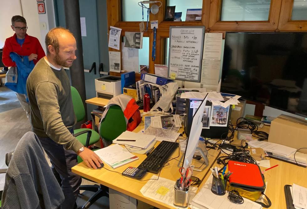 Oficina de Montagna Sicura, organización que monitoriza los movimientos de los glaciares del Valle D'Aosta.