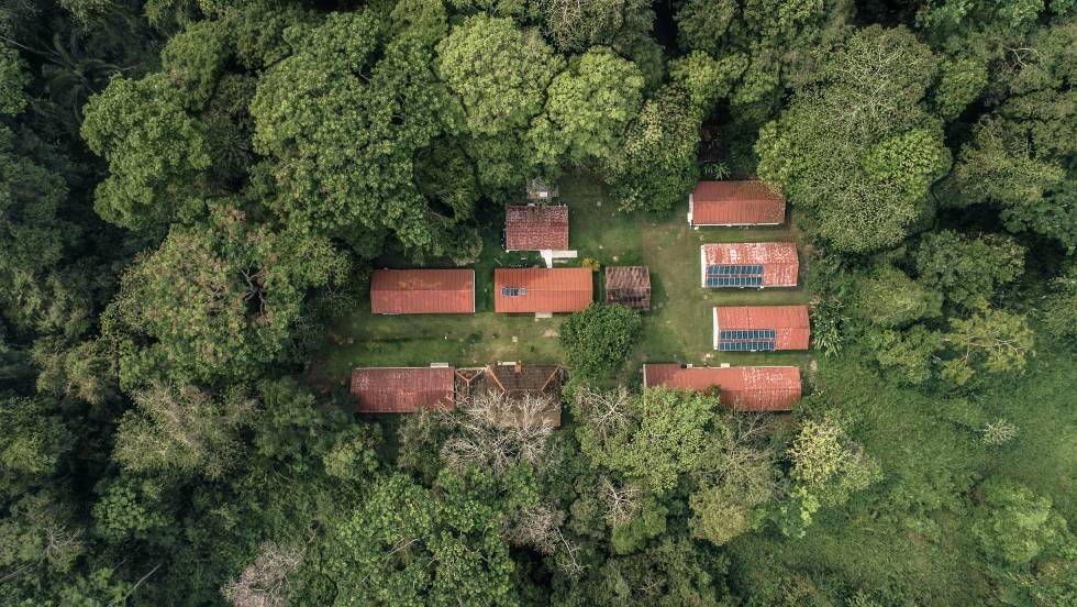 Vista aérea de la Estación Chajul, Chiapas