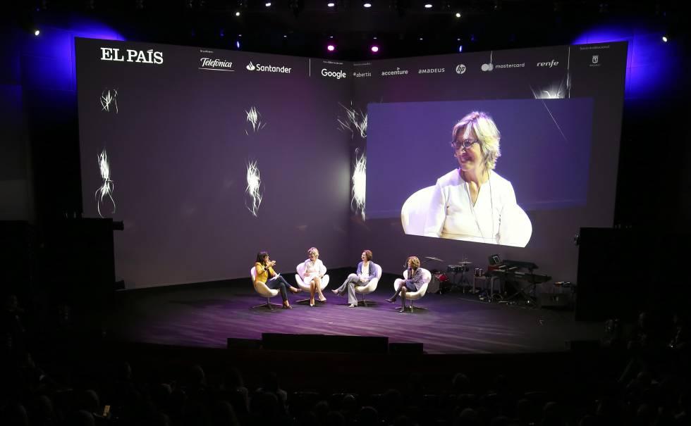 Pilar Álvarez, Nuria Vilanova, Helena Herrero y Sara Bieges, en la anterior edición de Retina LTD.