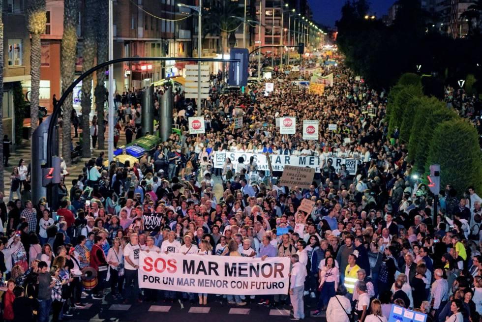 Manifestación en Cartagena por el mar Menor el pasado 30 de octubre
