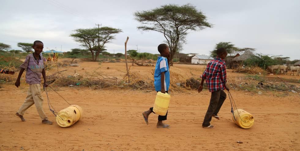 Refugiados del campo Dadaab, en Nairobi (Kenia).