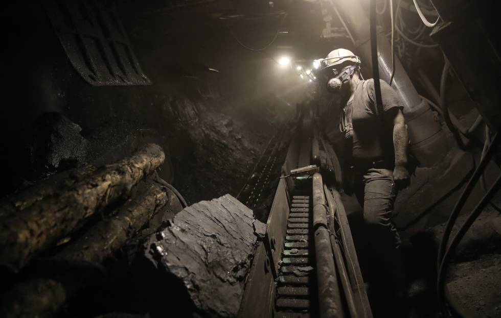 Mina de carbón en Pawlowice, ubicado en la región polaca de Silesia.