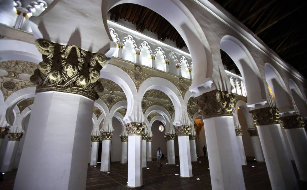 Interior de Santa Maria la Blanca, antigua sinagoga de Toledo.