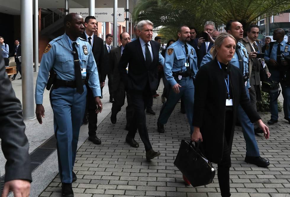 El actor Harrison Ford, a su llegada a la Cumbre por el Clima COP 25 en Madrid.