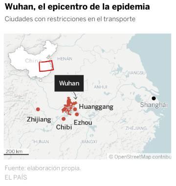 Crónica de una ciudad aislada por el virus: hospitales blindados y estaciones fantasma en Wuhan