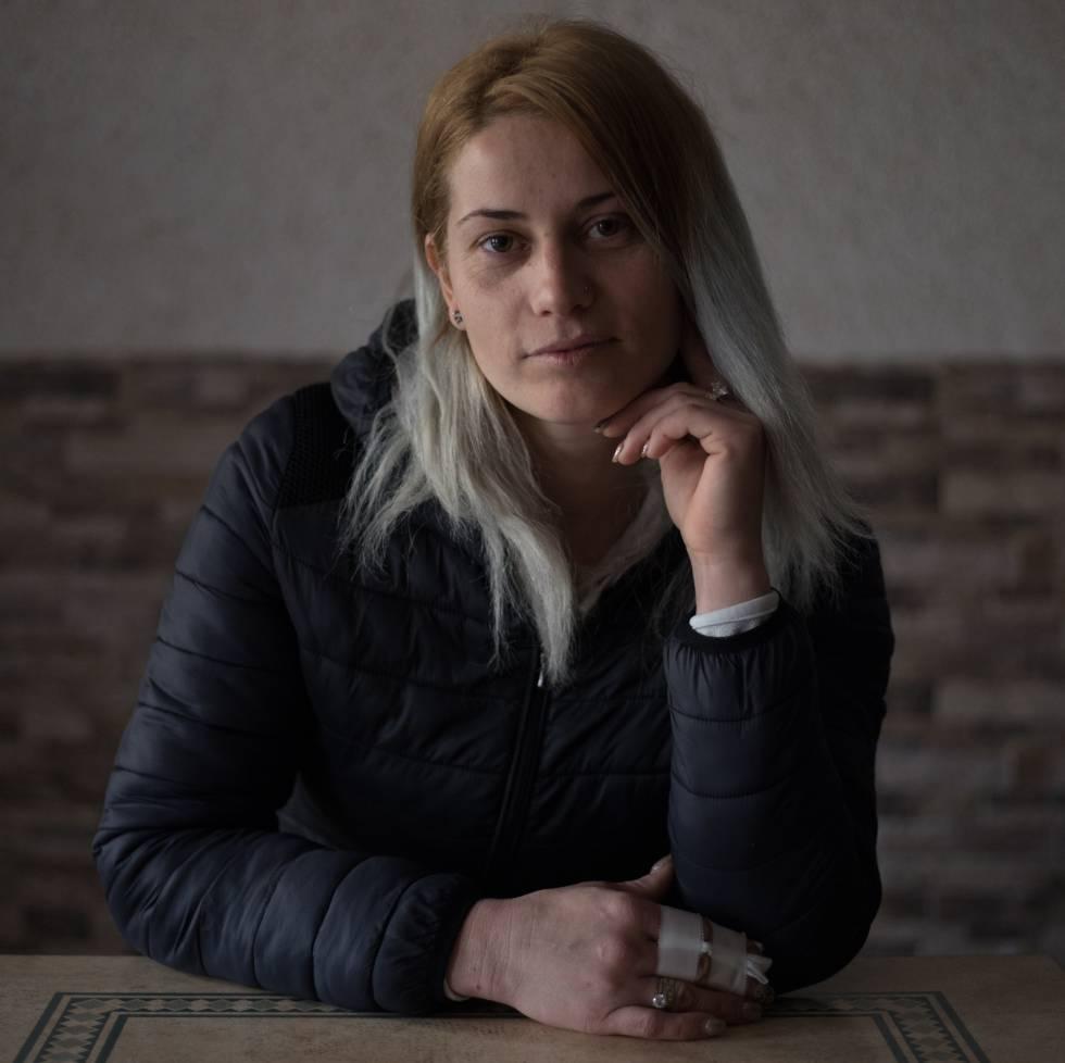 Maria Aurelia Diosteanu trabajadora de origen rumano de Planasa Fuente el Olmo de Fuentidueña
