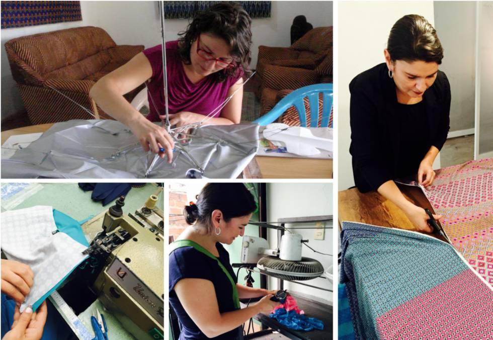 Diana Sierra, trabajando en el diseño de sus braguitas menstruales.