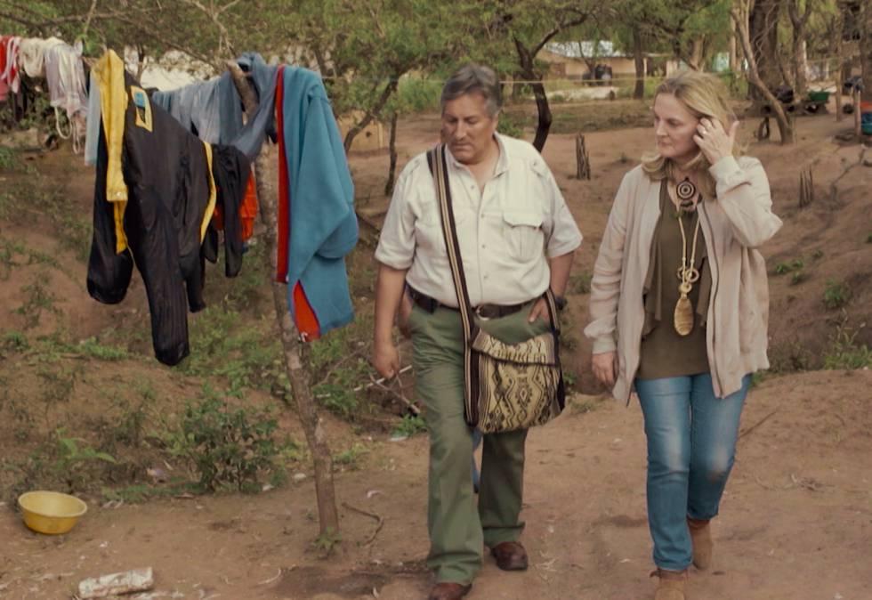 PIlar Mateo en el Chaco boliviano.