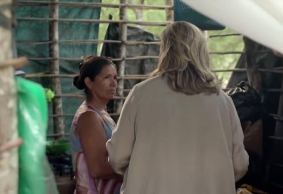 Pilar Mateo durante una de sus estancias con la comunidad guaraní.