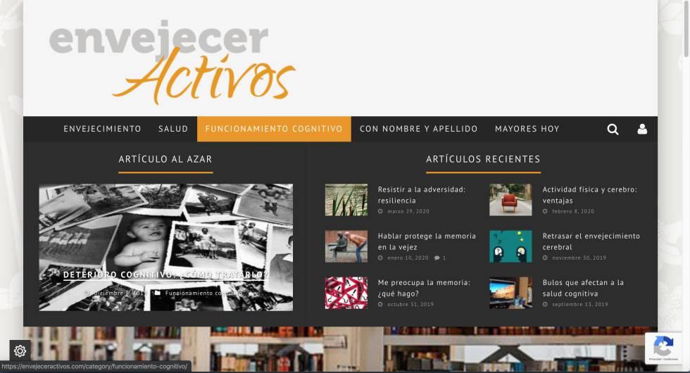 Captura de la página web de Concha Aparicio.