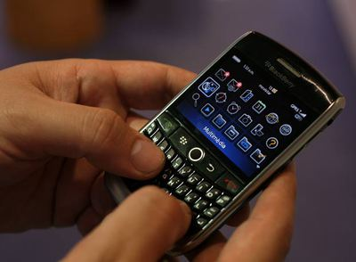 La Blackberry Curve 8900.