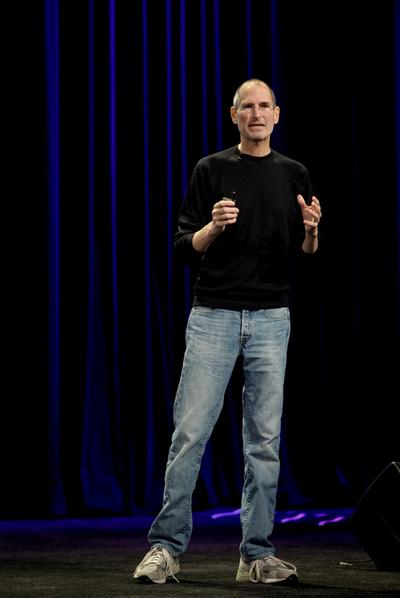 ed72920f688 Steve Jobs, consejero delegado de Apple, en una conferencia de prensa, en  septiembre