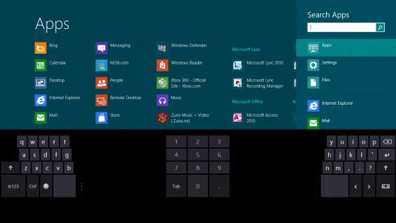 Un ordenador con Windows 8.