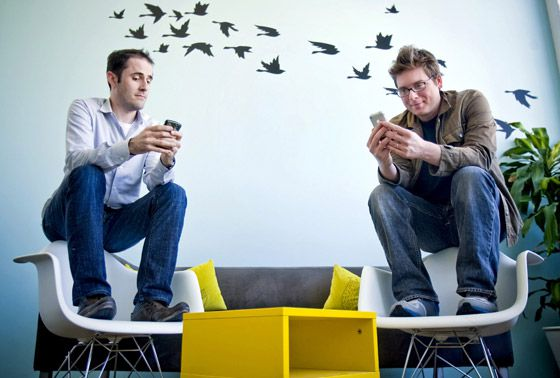 Evan Williams y Biz Stone, en 2009.