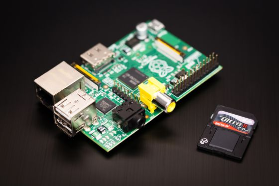 La placa Raspberry Pi.
