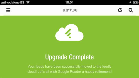 Feedly, la alternativa a Google Reader más popular.