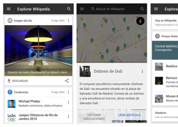 Wikipedia se reinventa para dispositivos Android