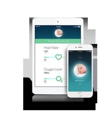 Owlet envía los datos del bebé a una 'app' en el móvil o tableta.