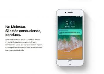 El iOS 11 de Apple advertirá a los demás de que vas conduciendo