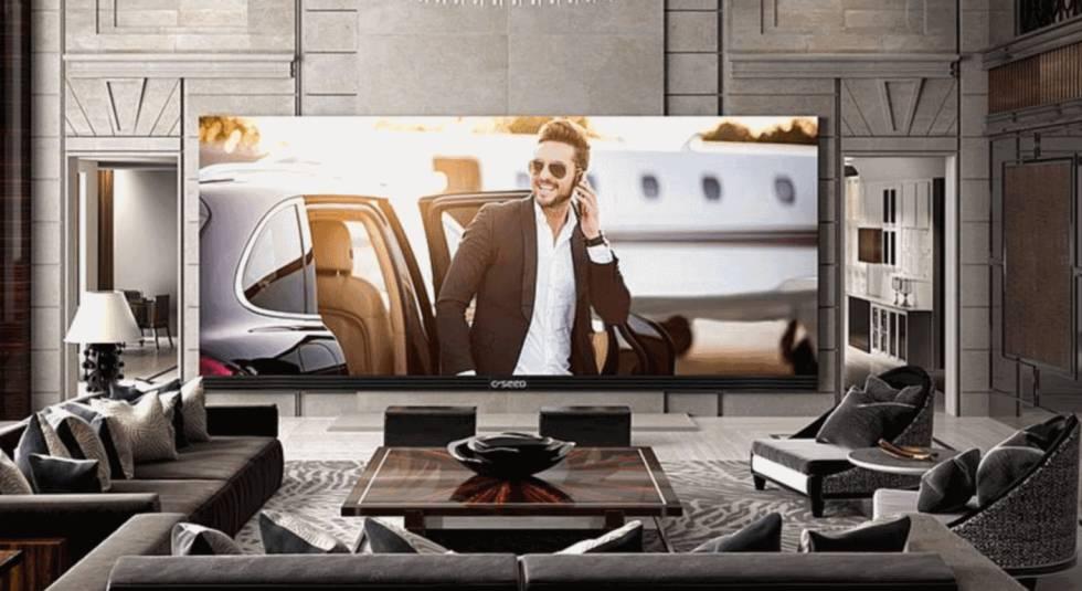1f5368b056f El televisor C SEED 262 está diseñado para interiores pese a su tamaño.