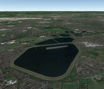 Parque solar flotante de Londres, el más grande de Europa.