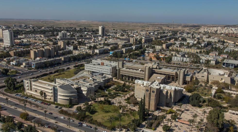 O campus da Universidade Ben-Gurion em Beersheva