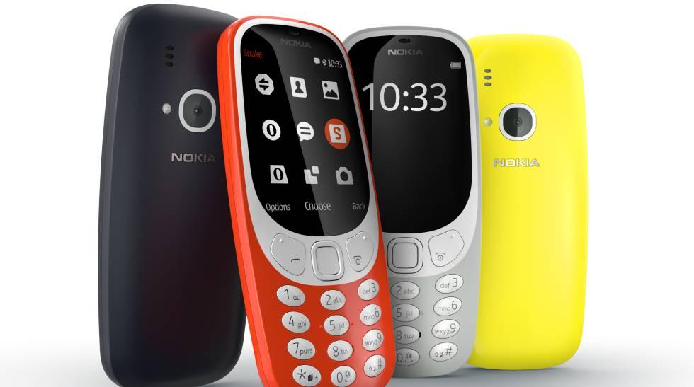 Distintos modelos de carcasa para el Nokia 3310.