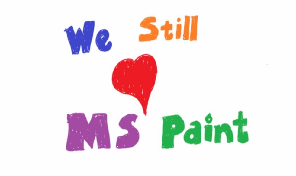 Imagen del blog de Microsoft apoyando su Paint,